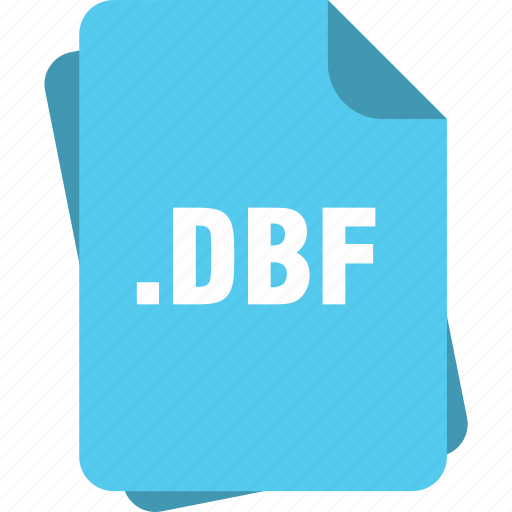 blue, dbf, extension, file, page, type icon