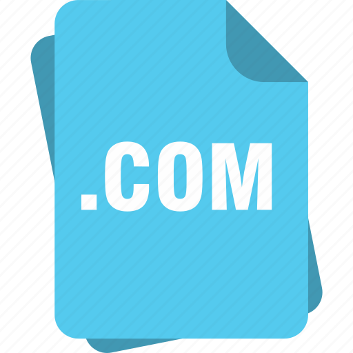 blue, com, extension, file, page, type icon