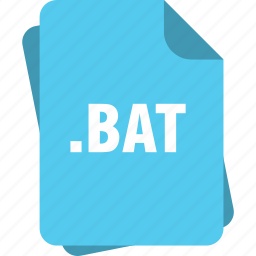 bat, blue, extension, file, page, type icon