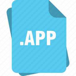 app, blue, extension, file, page, type icon
