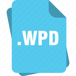 blue, extension, file, page, type, wpd icon