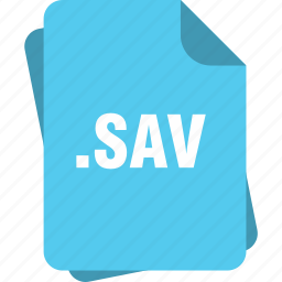 blue, extension, file, page, sav, type icon
