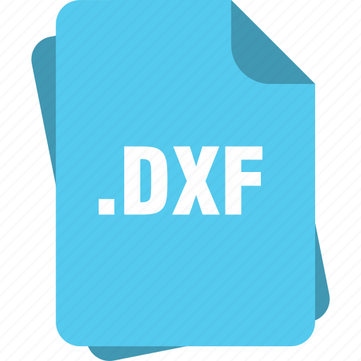 blue, dxf, extension, file, page, type icon