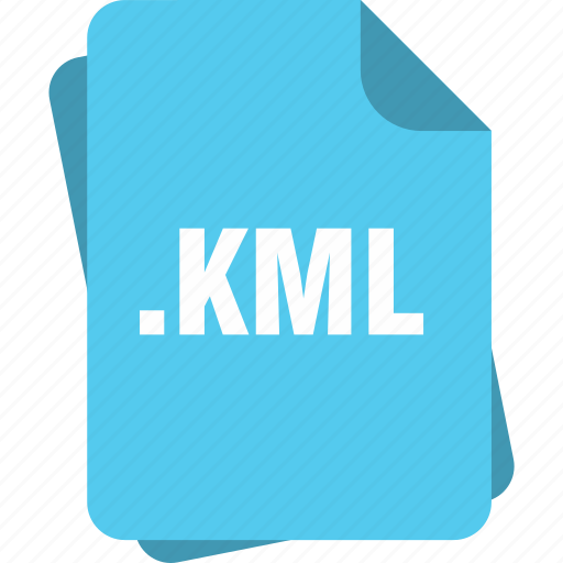 blue, extension, file, kml, page, type icon