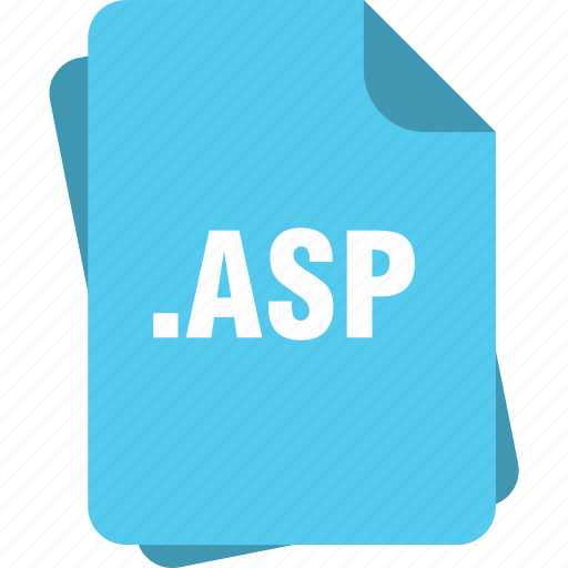 asp, blue, extension, file, page, type icon