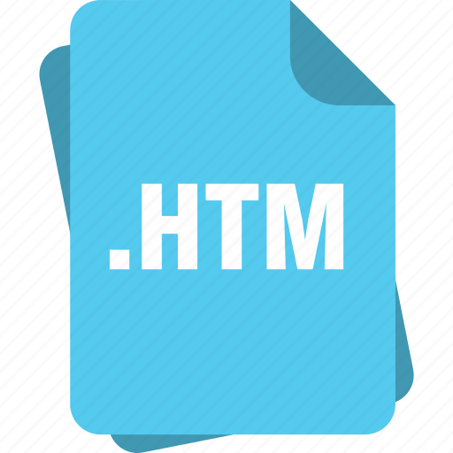 blue, extension, file, htm, hypertext markup language file, page, type icon