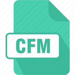 cfm, coldfusion markup file, doldfusion, extension, file, type icon