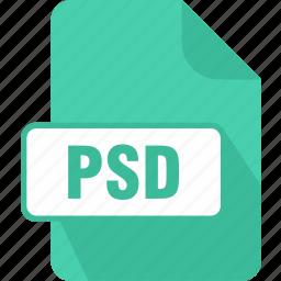 adobe, adobe photoshop document, extension, file, psd, raster, type icon