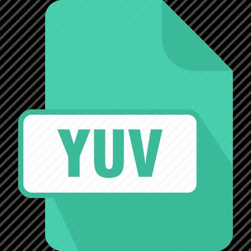 extension, file, type, yuv, yuv encoded image file icon