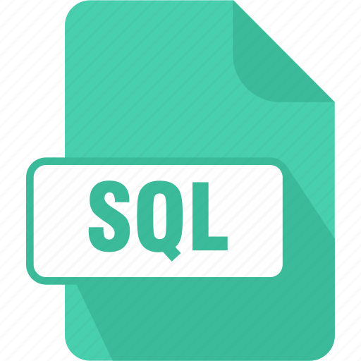 extension, file, language, query, sql, structured query language data filem, type icon