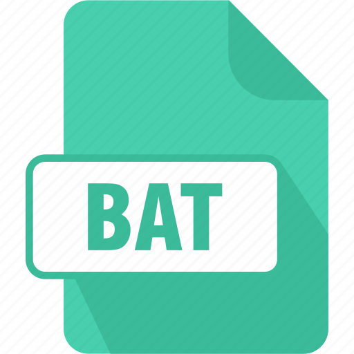 bat, document, dos batch file, extension, file, type icon