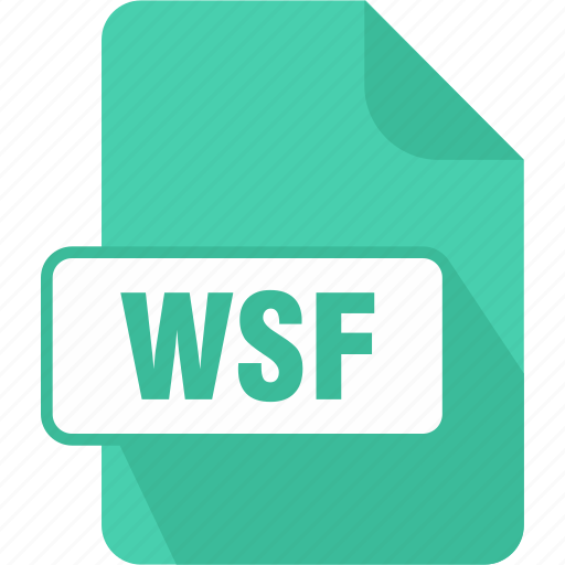 extension, file, script, type, windows, windows script file, wsf icon