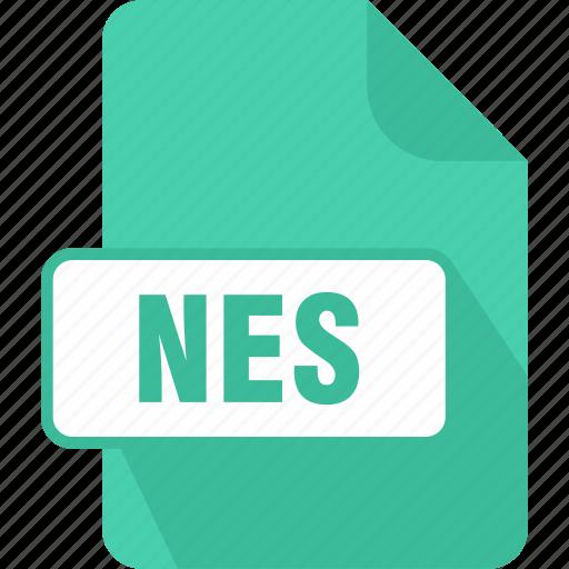 extension, file, nes, nintendo, nintendo (nes) rom file, type icon