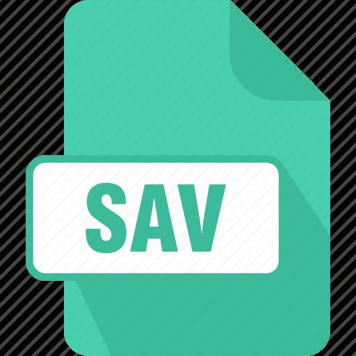 extension, file, sav, saved game, type icon