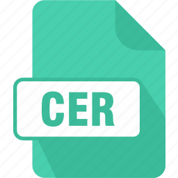 cer, extension, file, internet security certificate, security, type icon