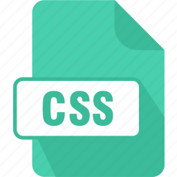 css, extension, file, style sheet, type icon
