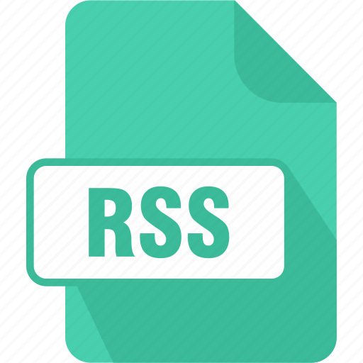 extension, file, rich site summary, rss, type icon