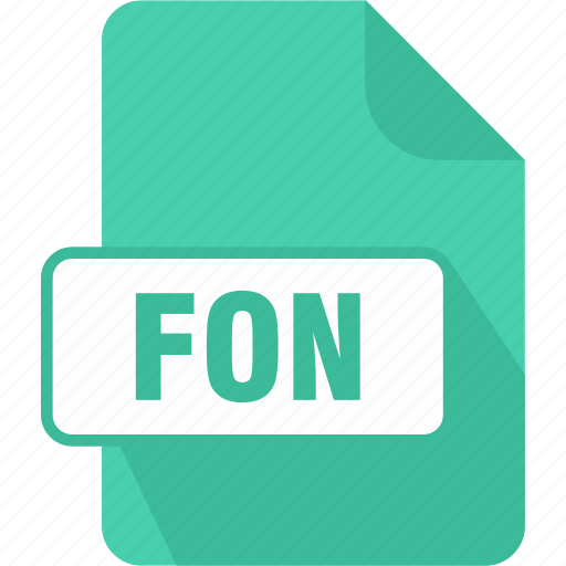 extension, file, fon, generic font file, type icon