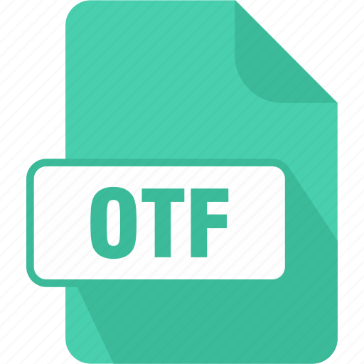 extension, file, opentype font, otf, type icon