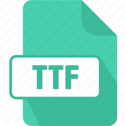 extension, file, font, truetype font, ttf, type icon