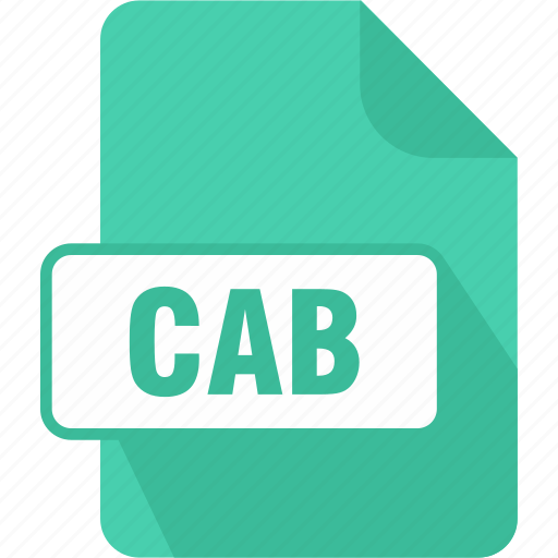 cab, extension, file, type, windows cabinet file icon