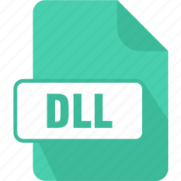 dll, dynamic link library, extension, file, type icon