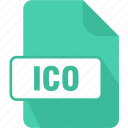 extension, file, ico, type icon