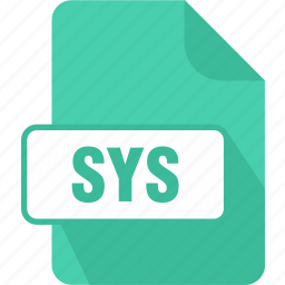 extension, file, sys, system, type, windows system file icon