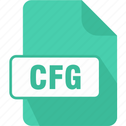 cfg, configuration file, congiguration, extension, file, type icon