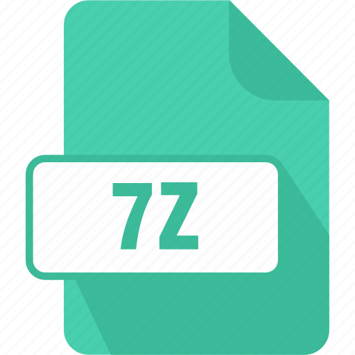 extension, file, type, zip 7z, zip compressed file icon
