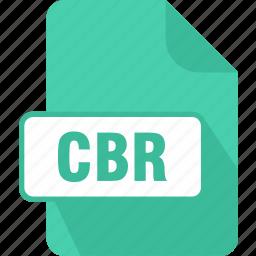 cbr, comic, comic book rar archive, extension, file, type icon