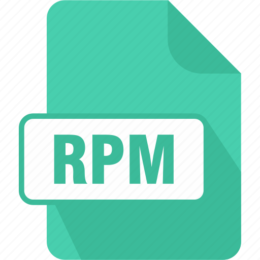 extension, file, package, red hat package manager file, rpm, type icon