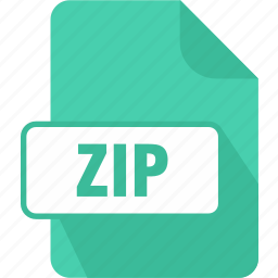 extension, file, type, zip, zip file icon