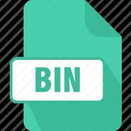 bin, binary disc image, extension, file, type icon
