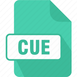 cue, cue sheet file, extension, file, type icon