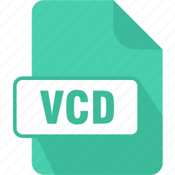 extension, file, type, vcd, virtual cd icon