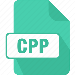 c++ source code file, cpp, extension, file, type icon