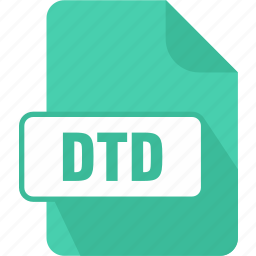document type definition file, dtd, extension, file, type icon