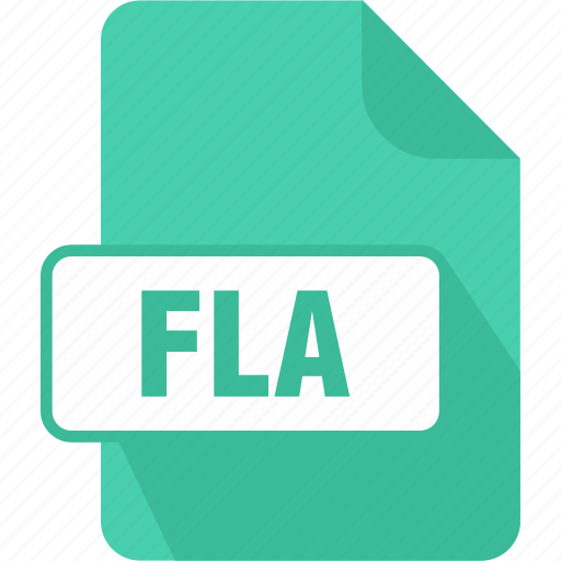 adobe flash animation, extension, file, fla, type icon