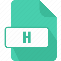 c/c++/objective-c header file, extension, file, h, type icon