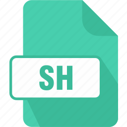 bash shell script, extension, file, sh, type icon
