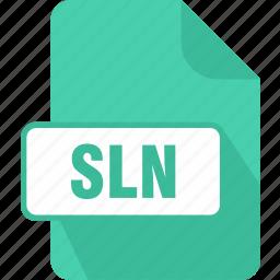 extension, file, sln, type, visual studio solution file icon