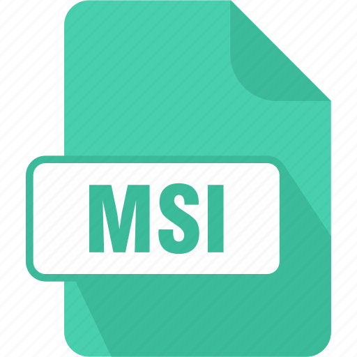 extension, file, msi, type, windows installer package icon