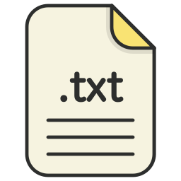 document, file, format, text, txt icon