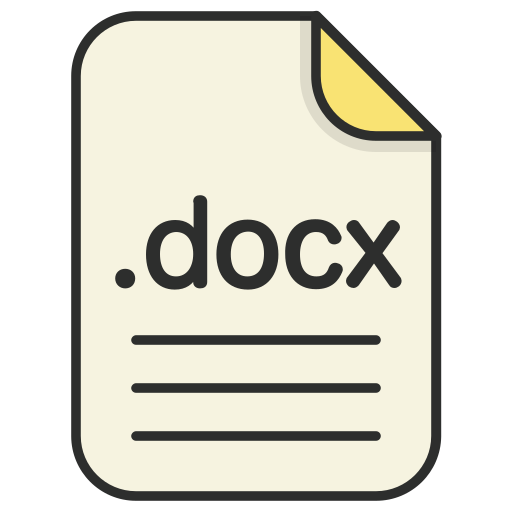 document, docx, file, format, text icon