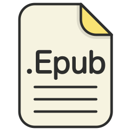document, epub, file, format, text icon
