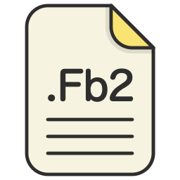document, fb2, file, format, text icon