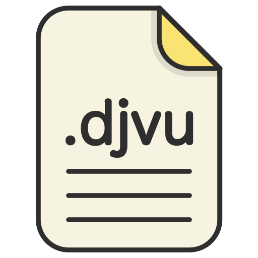 djvu, document, file, format, text icon