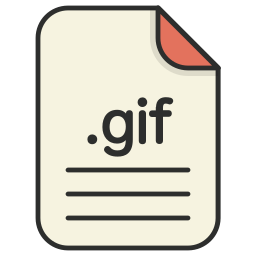 document, extension, file format, format, gif, image icon