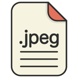 document, extension, file format, format, image, jpeg icon